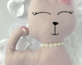 Pale pink Cat Toy