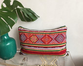 Ikat Handwoven Pillow/Hand-stitched Pillow/Boho Pillow/One of a kind Pillow/Accent Pillow