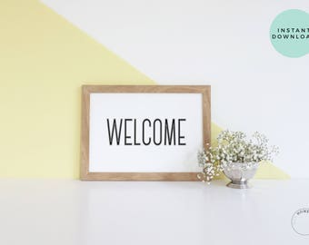 Welcome  | Welcome Poster | Welcome Sign | Wedding Welcome Sign | Shower Welcome Sign | Printable Welcome | Printable Poster | Welcome Print