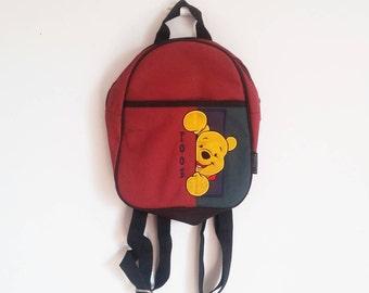 90s Retro Vintage Winnie the Pooh Disney Backpack