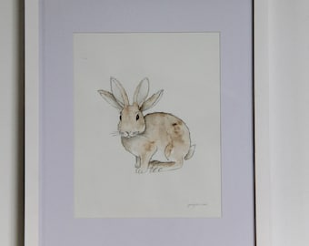 Four Eared Rabbit - painting