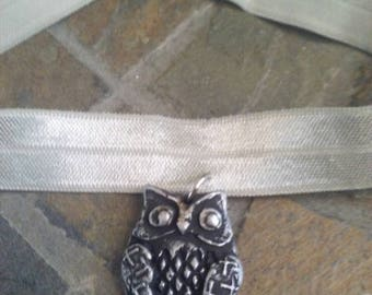 Choker necklace, Vintage necklace. Owl choker