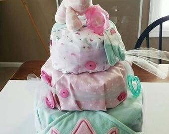 Custom 3 Tier Diaper Cake