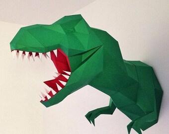 T.Rex DIY Papercraft.