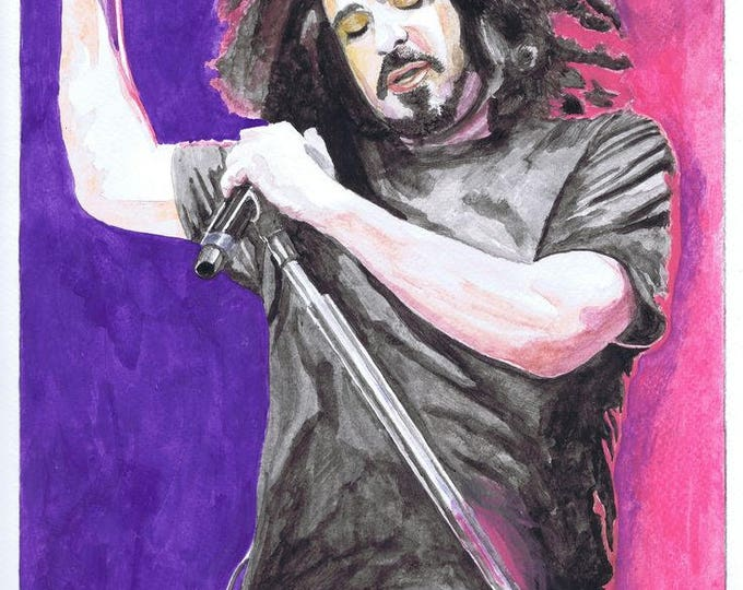 Framed Adam Duritz Counting Crows Print 11x17 Black Slim