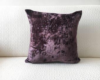 Purple Velvet Pillow Etsy