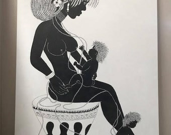 African art, african painting, african print, african artifacts, africanart  prints, painting, nurturing art canvas