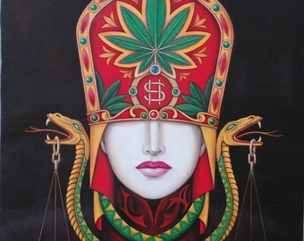 Fine Art Giclee Print Painting Titled High Society