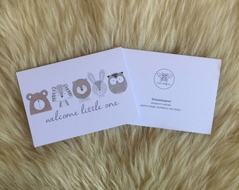 Welcome Little One Animal Card