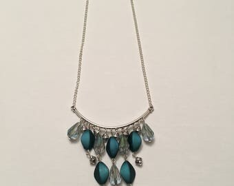 Teal Chandelier Necklace