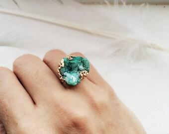 Siren Peisinoe -  Turquoise Sedona Stone Statement Ring