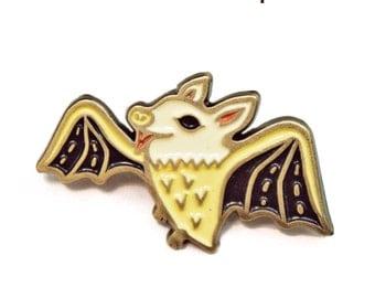 BAT ENAMEL PIN goth bat pin enamel pin bat jewelry, halloween pin, enamel pin punk, fruit bat lapel pin, enamel pin horror, austin texas pin