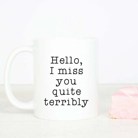 Miss you mug, personalised back, lovely I miss you gift mug