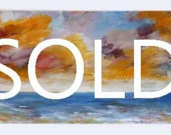 SOLD-----------------------Colorful, Seascape, Painting, Tropical,Original Painting, Beach House, Home Decor, Coastal, Beach Decor, Winjimir