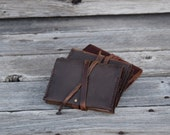 Small Pocket Notebook / Ready to Ship / Leather Journal / 4.5 X 3.25 lined notepad / Pocket Journal / Refillable Journal