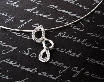 drops  - 925 sterling silver necklace