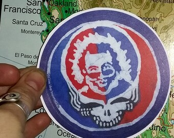 Steal Your Face- Jerry Garcia Vinyl Sticker