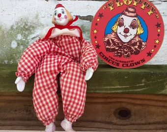 Floppy the Acrobatic Circus Clown Vintage 1980s
