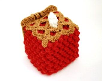Cherry Pie Tissue Box Cozy -  Made to Order