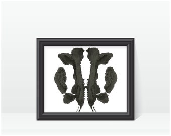Psychology Art Rorschach Ink Blot Art print no 31