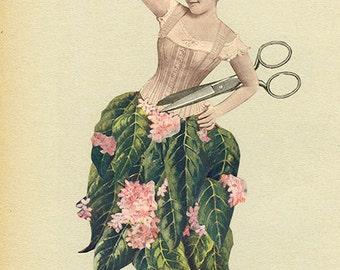 The dressmaker. Original collage by Vivienne Strauss.