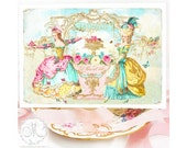 Marie Antoinette let them eat cake card, for birthday, card for her or girlfriend, all occasion