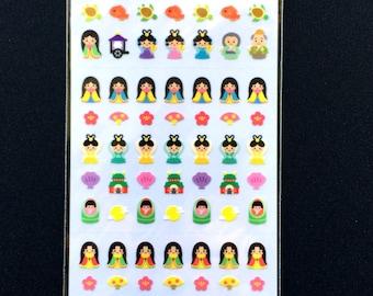 Japanese Stickers - Japanese Fairy Tale  Stickers -Princess Kaguya  (S292)