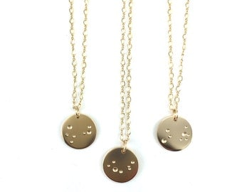 Gold Moon Pendant Necklace, 14k Gold Filled Astronomy Necklace Gift For Her