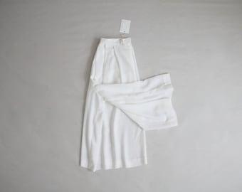sheer white culottes   wide leg pants   white palazzo pants