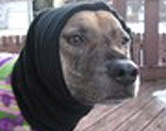 Snood for Dog - Polarfleece Snood for Medium Dog - Black Snood