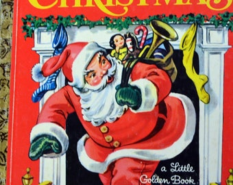 Vintage Children's Book The Night Before Christmas Little Golden Book Get 5 Books for Ten Dollars