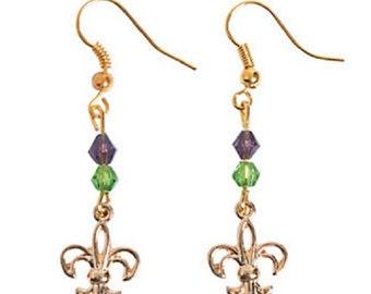 Fleur De Lis Wire Earrings