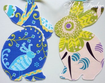 Bunny Garland, Baby Shower, blue tape, double sided fabric