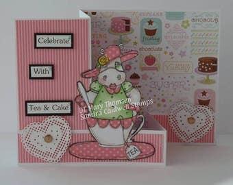 1417 Tea Cup Hippo Digi Stamp