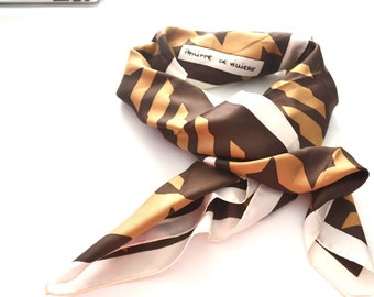 Vintage Philippe de Villiere silk scarf
