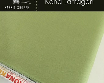 Kona cotton solid quilt fabric, Kona TARRAGON 316, Kona fabric, Solid fabric Yardage, Kaufman, Green fabric, Choose the cut
