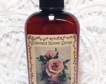 Room Spray, Vintage Rose, Rose Scented, floral scent, 4 ounce bottle, teacher gift ,room sprays, mother's day gift, Moeggenborg Sugar Bush