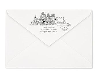 Maine Custom Return Address Stamp