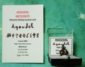 AGOUDAL Meteorite And (Agoudal Meteorite Writing) Souvenir Card Natural Iron Outer Space Rock Meteorite Found 2000 Morocco