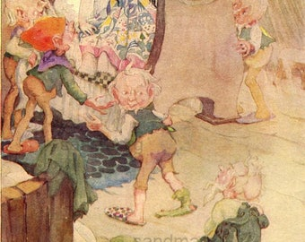 Vintage Storybook Illustration 1920s Snow White and the Seven Dwarfs  Anne Anderson