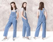 OVERALLS women SMALL vintage DENIM 90s Squeeze Jeans loose Spring Summer / Better Stay Together Stephen Hardy / Medium
