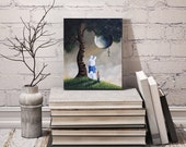 SPECIAL OFFER - Limited Edition Canvas Print - First One - Hand Embellished - Alice In Wonderland Art - 8x10 - Home Decor - Giclee