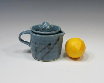 Citrus Juicer - Ceramic Lemon Reamer - Pottery Citrus Juicer - Strainer - Creamer - Small Pitcher - Food Prep Accessory - Orange Juicer