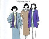 Park Bench Pattern Co. No. 7 Denver City Park Suit Jacket Top Skirt Easy Fitting Size Adjustments Uncut Sewing Pattern 1995