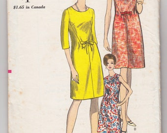 "Vintage Sewing Pattern 1960's Ladies' Dress Vogue 6846 34"" Bust - With FREE Pattern Grading E-book"