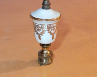 Porcelain Finial Cream and Gold Vintage Probably 40s or 50s