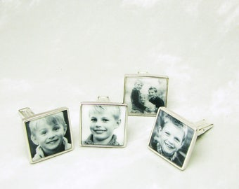 4 Photo Cuff Links to Mix and Match - A12x2