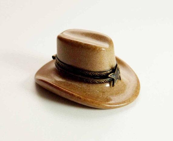 Vintage Limoges Cowboy Hat Ten Gallon Hat Stetson Porcelain 10 Gallon Cowboy Hat Front