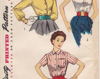 Vintage Pattern Simplicity 4256 Blouse 50s Size 12 B30
