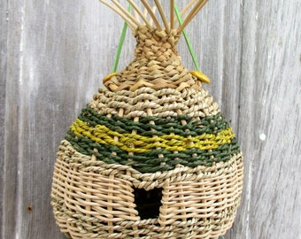 Large Birdhouse Woven of Fibers from The Bent Tree Gallery